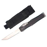 высокие подарочные пакеты оптовых-High End Энди авто тактический нож D2 Танто атласное лезвие T6061 алюминиевая ручка EDC карманный нож подарочные ножи с нейлоновой сумкой
