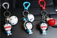 Wholesale Blue Bell Jingle - new Originality Smile Jingle cat Keychain Small bell Lovely men and women Keychain Exquisite pendant car key chain Lovers Key Chain