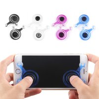 Joysticks pc Spiel Mobile Joystick Telefon Mini Game Rocker Touchscreen Joypad Tablet Sucker Wireless Game Controller für iPad iPhone 2pcs / Set