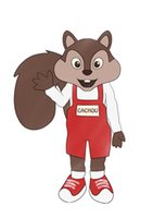 Wholesale Squirrel Mascot Costumes - Customized Brown squirrel mascot costume + LOGO Fancy Dress Halloween Dress Adult free shipping