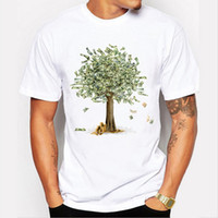Wholesale Growing Fashion - Newest 2017 Funny Design Money Grows On Trees Printing T Shirt Men's Fashion Summer Short Sleeve Novelty Tee Tops Camisetas
