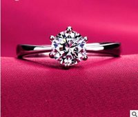 Wholesale Cheapest Plate Set - Cheapest platinum plating ms roundness love diamond ring micro diamond ring with high carbon diamond ring two styles can choose