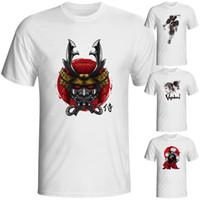 Wholesale Japanese Samurai Red - Wholesale- [EATGE] 2016 Brand Men Women T-shirt Hip Hop 3D Funny T Shirts Men's Anime Tee Shirt Casual Japanese Samurai Printed Tshirt