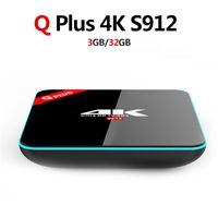 Wholesale q black - Q Plus S912 Android 6.0 Smart TV Box Octa Core KD Player Fully Load WIFI BT4.0 4K Box 0803146
