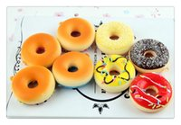 Wholesale donut mobile - Wholesale squishies Free Shipping Cute cartoon Donut squishy charm mobile phone strap