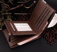 Wholesale Korean Wallets For Mens - New Arrival PU Leather Wallets For Mens Designer Zipper Money Purse Coin Pocket Cluch Bag Traver Wallet Credit Card Holder