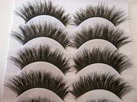 Wholesale Thick Cock - Wholesale- Free shipping 2014 hot sale 5 Pairs lot natural long thick cocking up girl High quality false eyelashes charming fake eyelashes