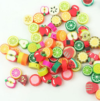 Wholesale Spacer Findings - Fashion 300Pcs lot Mixed Fimo Polymer Clay Fruits Spacer Beads Clothes Caps DIY Jewelry Decoration Finding Accessories New
