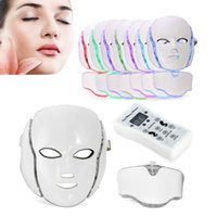 Wholesale Skin Firming Face Mask - LED Phototherapy Skin Rejuvenation Whitening Face Neck Mask 7 Colors Anti- Ance