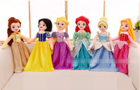 Wholesale Stuffed Princess Toy - 65cm Soft Plush Stuffed Princess Rapunzel Snow White Ariel Aurora Beauty and the Beast Belle Cinderella Princess dolls for Girl Gift