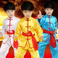Wholesale China Wholesale Clothing For Children - Children Child Kids Boy Chinese Traditional Clothing China Kungfu Suit Kung Fu Uniform For Boy Costumes Kungfu Uniforms