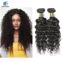 Brazilian Deep Curly Virgin Hair 3 Pacotes de Extensão de Cabelo Humano Natural Color 2 4 Brown Unprocessed Virgin Brazillian Hair Deep Wave