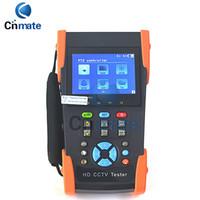 Wholesale Cctv Monitor Tester Ptz - CCTV Camera Tester 3.5 Inch LCD Coaxial HD Video Monitor Tester Support AHD CVI TVI SDI PTZ Control Ping Test HD-2800ADHS
