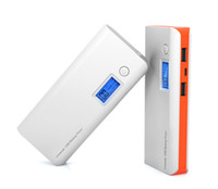 Wholesale External Power Ipad - 18650 Power Bank 20000mah LCD External Battery Portable Mobile Fast Charger Dual USB Powerbank for iPhone iPad Xiaomi Samsung Tablet