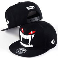 Wholesale Tooth Snapback - Big Teeth Gravity Falls Unisex Snapback Hat Hip Hop Flat Brim Adjustable Baseball Cap