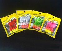 Wholesale Bait Rigging - Soft Bait Fishing Hook 4 Pieces Bag 3.5g Jig Head 5.5cm Worm Lure Texas Rig Fishing Tackle
