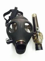 akrilik duman boruları toptan satış-STOKTA Silikon Mash Yaratıcı Akrilik Sigara Boru Gaz Maskesi Borular Akrilik Bongs için kuru ot Shisha Boru