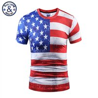 Wholesale Mens Stripped Shirts - 2017 summer new arrival high quality brand t-shirts tendy style 3d print white star red strip printed exquisite fashion tees mens sweatshirt