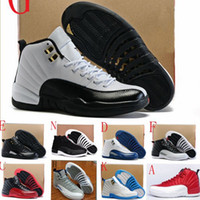 Com Box Highs 12s Basketball Shoes Men Women 12s Flu Game French Blue 12s The Master Gym Red Taxi Playoffs Shoes