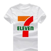 Wholesale eleven s - 7 Eleven New Fashion Man T-Shirt Cotton O Neck Mens Short Sleeve Mens tshirt Male Tops Tees Wholesale