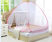 Wholesale Portable Folding Pop Up Mosquito Net Bed Canopy Curtains Travel Camping Tent Openings Bed Tent Net