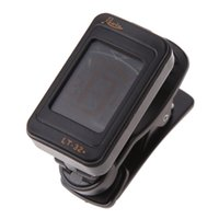 Wholesale Clip Instrument Tuners - Professional Guitar Bass Tuner Rowin LT-32 Mini LCD Clip-on360Degree Swivel Rotation Guitar Digital Tuner for Musical Instrument