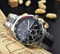 maquinas modernas al por mayor-Reloj de pulsera de alta calidad para hombre moderno y redondo Reloj de cuarzo importado resistente al desgaste TGHY multifunción máquina núcleo minerales
