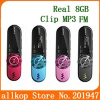 Wholesale Sports Flash Drives - Wholesale- Real 8GB music player sport mp3 B152F for sony with clip + FM Radio +Pen USB Flash Drive Recording digtal MP3 music player