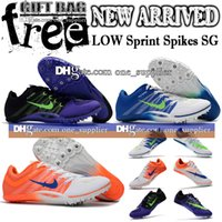 Football Boots sprint shoes - New Low Soccer Shoes For Man Sprint Spikes SG Football Boots Original Mens Metal Spike Outdoor Soccer Cleats Size Gift Bag