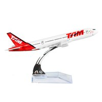 Wholesale Airlines Metal - 1:400 Brazil TAM Airline Boeing 777 16cm TAM Alloy Metal Plane Toy Aircraft Birthday Gifts Christmas gift
