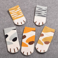 Wholesale Cute Cat Anime - Wholesale-Girls Cute Cat Claw Style Short Ankle Socks Anime Neko Atsume Cosplay Props