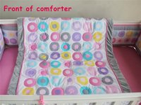Wholesale Cheetah Bedding Sets - 7PCS Nursery Bedding Set Girls Crib Bedding colorful donuts crazy animal city The cheetah officer Clawhauser comforter
