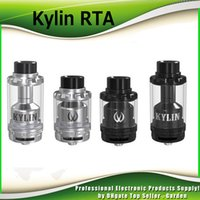 Wholesale dual coil 6ml - Original Vandy Vape Kylin RTA 2ml 6ml Tank Plethora of Airflow Holes Both Single Dual Coil Atomizer Wide Bore Drip Tip 100% Authentic