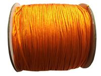 Wholesale Orange String Bracelet - 0.8mm Orange Rattail Braid Nylon Cord+Jewelry Accessories Thread Macrame Rope Shamballa Bracelet String 200m Roll