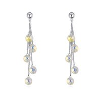 Wholesale Swarovski Best - New fashion brands statements jewelry accessories wholesale Swarovski elements crystal exaggerated long dangle earrings for women best gift