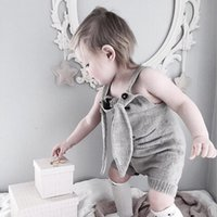 Wholesale Carton Cute Girl - 2017 New Wholesale Baby Girls Knitting Rompers High Quality Autumn Winter Carton Cute Cotton Soft Toddler Jumpsuit