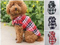 Wholesale British Clothing Styles - High Quality Cute Pet Small Dog Puppy Clothes Plaid T Shirt Blue Red Green Color British Style Lovely