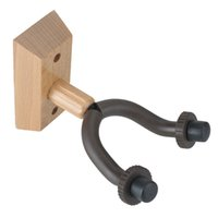 Wholesale Guitar Holder For Wall - Hot Sale Wooden Guitar Holder Guitar Wall Hanger Hooks with Wooden Base for Home and Studio- Brown