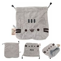 Quente! 5pcs / Lot Pusheen Drawstring Bag Pelúcia Toy Stuffed Animals Toy Buggy Bag Best Child Gifts 21 * 19cm