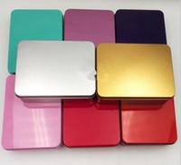 caramelo clave al por mayor-Kit de Supervivencia Popular Tin Box Estaño Higen Tapa Pequeña Caja de Almacenamiento de Metal Flip Flip Metal Vacío Organizador Para Dinero Monedas Llaves de Caramelo