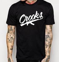 Wholesale Men Crooks T Shirt - Crooks And Castles T Shirts Men Short Sleeve Cotton Man T-Shirt CROOKS Letter Mens t shirt Tops Tee Shirt