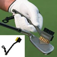 Wholesale Golf Club Cleaning Brush with Double Sided Brass Nylon Bristle