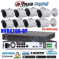 Wholesale Dahua Network Video Recorder - Original ENGLISH firmware dahua 8PoE NVR Network Video Recorder DH-NVR4208-8P with 8pcs IPC-HFW1220S 2MP Full HD POE IP67 english camera