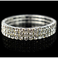 Wholesale Wear Trendy - 2017 New Cheap Sparkly Sliver Bridal Jewelry Bracelets In Stock Prom Party Wear Fashion Teens Pageant Formal Occasion Gift Hot Bling Bling