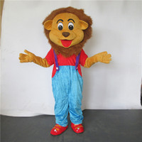 Wholesale Lion Mascots For Sale - customized mascots high quality funny MR lion mascot costume adlut outfits cartoon character mascots for sale