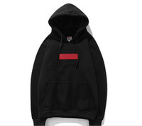 Wholesale white v neck hoodie - Pullover Hoodies Summer New Classic Embroidery Red Mark Hooded Long-Sleeved Men's Sweater
