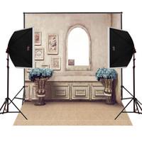 Wholesale camera backdrops online - vintage house old master wall decor photo background for wedding camera fotografica digital cloth studio photography backdrops vinyl prop
