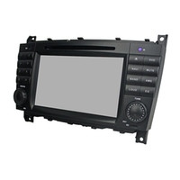 Wholesale Dvd Gps For C Class - free map HD screen 1024*600 Andriod 5.1 Car DVD player for Benz C-Class W203 with GPS,Steering Wheel Control,Bluetooth, Radio