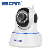 Wholesale camera sd ir ip online - Escam QF002 Mini WiFi IP Camera HD P CCTV Security Camera System P2P IR Cut Two Way Audio Micro SD Card Slot Night vision