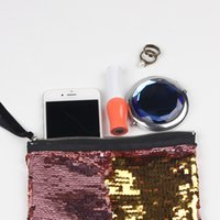 Wholesale Designer Cell Phone Pouch - Sequins Clutch Bag Mermaid Sequin Purse Mermaid Makeup Bags Cosmetic Bag Glitter Sequins Coin Bags Fashion Handbags Designer Pouch